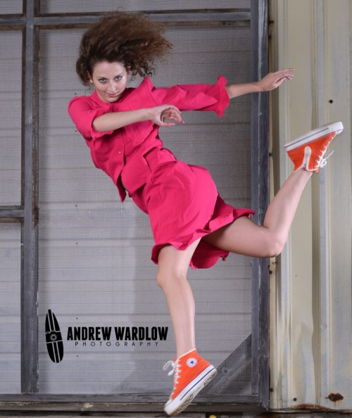 Breena Cocco does a move during her Panama City dance photographer session.