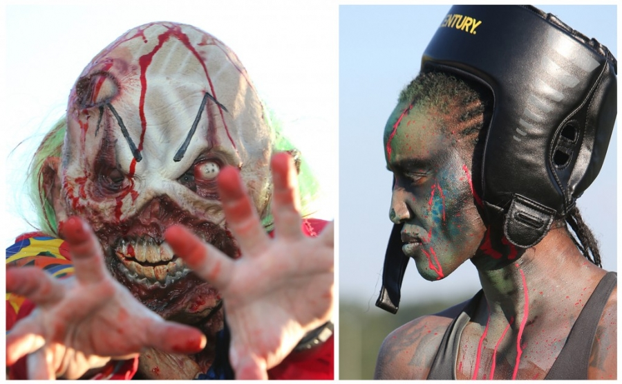 There were some really cool-looking zombies on hand for Running Scared Zombie 5k Run at Harder