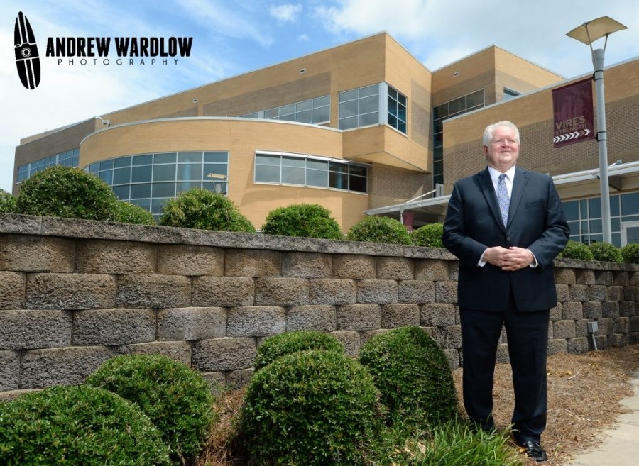FSUPC Dean Randy Hannah stands outside of the Holley Academic Center in Panama City.